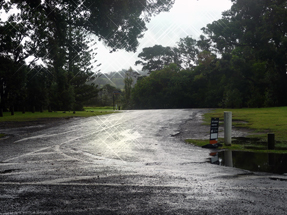 sunshine on a rainy road
