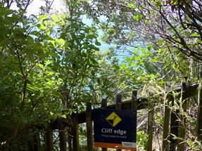 Take care! It is steep behind