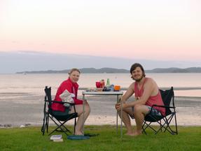 Dinner at Snells Beach
