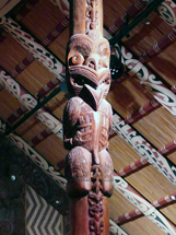 Carvings in the Marae