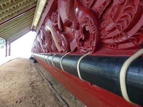 War canoe at Waitangi Treaty Grounds