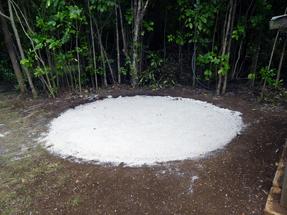 water tank for Aroha Island