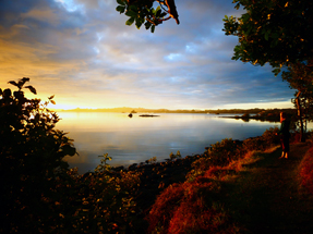 Sunset on Aroha Island