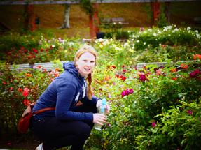 Rose garden within the Botanical Gardens