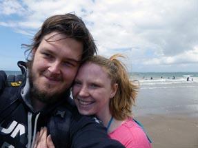 Bianca & Thomas on the beach