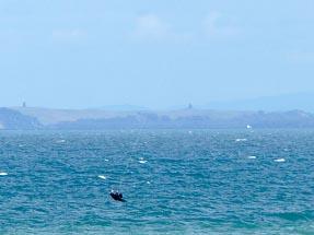 Kitesurfer at Long Bay Beach