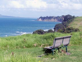 Bench at cliff