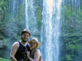 Bianca and Thomas waterfall