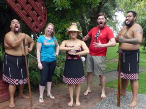 Us two with the Maori group