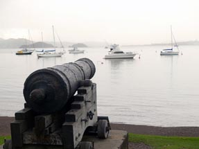 Cannon at promenade Russell