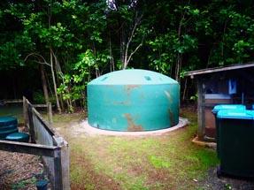 water tank Aroha Island