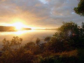 sunset aroha Island