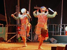 Warriors dancing stage