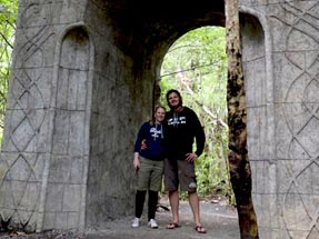 Bianca and Thomas under the arch