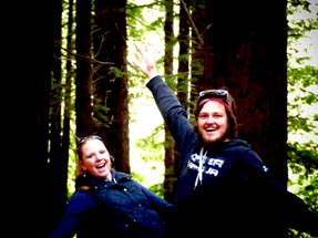Bianca and Thomas having a fotoshooting in the forest