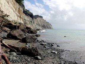 Steep coastline at Cape Kidnappers