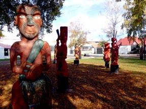 Maori carvings in Hastings