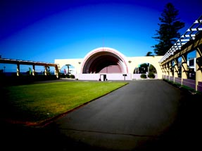 concert stage in Napier