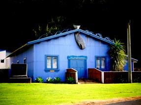 Maori Marae in blue colour