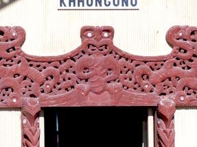 Maori Marae Door