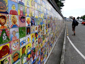 Wall of Tiles Gisborne