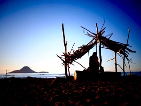 Hut at the beach