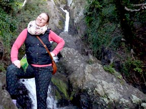 Wairere falls with Bianca
