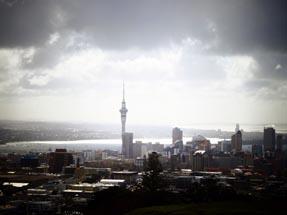 Skyline sun rain
