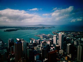 Auckland from above sun