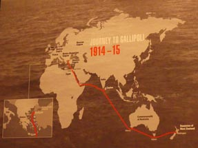 Map Travel Gallipoli