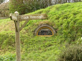 Hobbiton Tour village