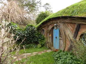 Blue hobbit house