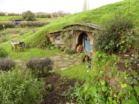Blue hobbit house big