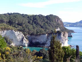 Ausblick Cathedral Cove
