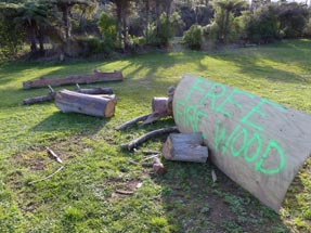 Fire Wood for free sign