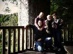 Us four with Kauri