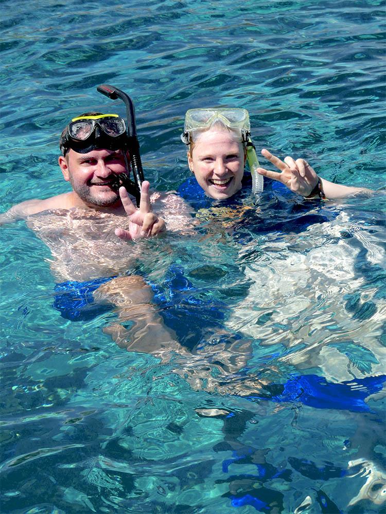 Bianca and Daniel snorkeling