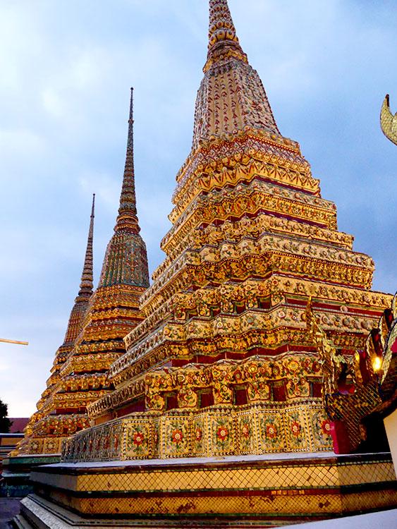 Wonderful decorated stupas