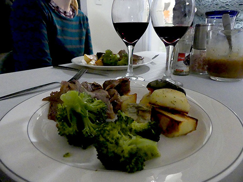 Red Wine & Roasted Veggies