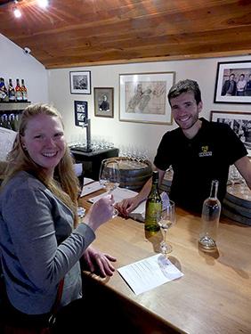 Wine tasting at Giesen Winery