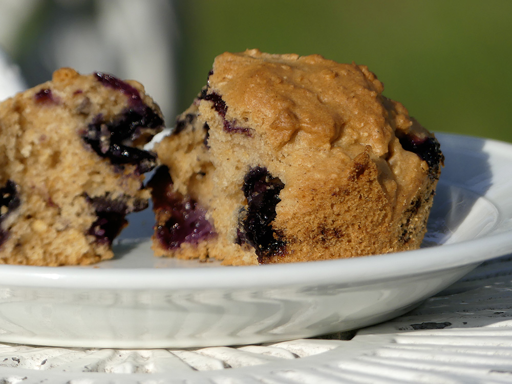 Et voilá: blueberry muffin